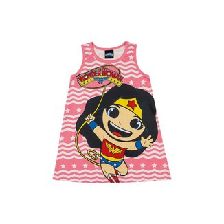 Vestido Infantil Bebê DC Super Friends Mulher Maravilha - VERMELHO - 3