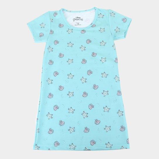 Vestido Infantil Disney Ariel Full Feminino - Azul