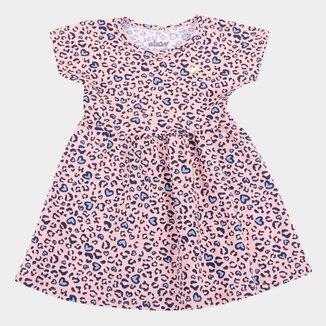 Vestido Infantil Elian Animal Print