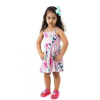 Vestido Infantil Estampa Tucano