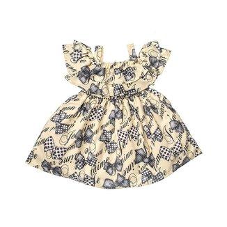 Vestido Infantil Estampado De Lacinhos Com Bordado De Pérolas -  Anjos Baby Chic