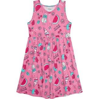 Vestido Infantil Estampado Rovitex Kids Rosa 8