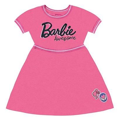 Vestido Infantil Fakini Curto Barbie