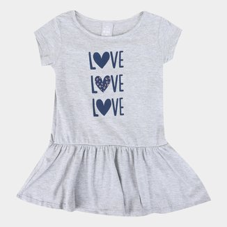 Vestido Infantil Hering Kids Love