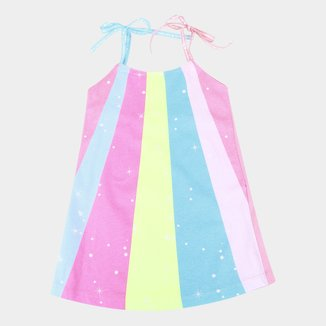 Vestido Infantil Kamylus Rainbown