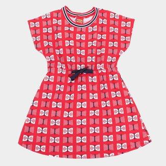 Vestido Infantil Kyly Estampado c/ Retilínea Feminino