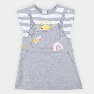 Vestido Infantil Malwee Listrado Sol