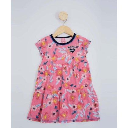 Vestido Infantil Manga Curta Estampa Floral Tam 1 A 3 - 10049419160
