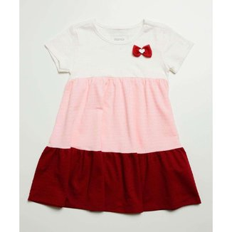 Vestido Infantil Manga Curta Recorte Marisa Tam 1 A 4 - 10046366450