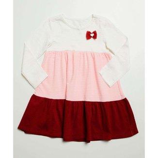 Vestido Infantil Manga Longa Recorte Marisa Tam 1 A 4 - 10046366504