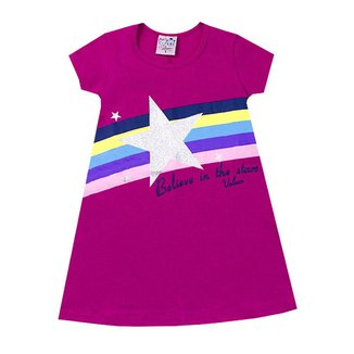 Vestido Infantil Menina Arco Íris Vallen Kids Pink