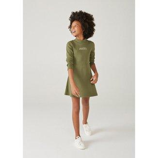 Vestido Infantil Menina Com Elastano