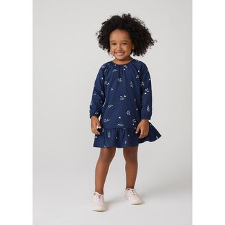 Vestido Infantil Menina Com Estampa Toddler - 5AW8KQREN1