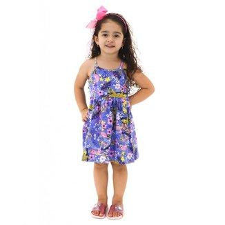 Vestido Infantil Menina Estampa Floresta