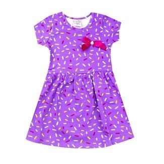 Vestido Infantil Menina Estampado com Laço Vallen Kids Roxo