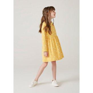 Vestido Infantil Menina Manga Longa Com Estampa - 5AUV1AEN4