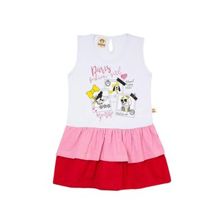 Vestido Infantil Menina Paris Branco – Minitune