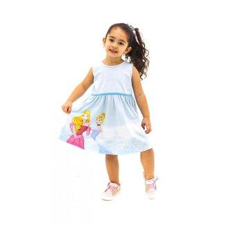Vestido Infantil Menina Princesas da Disney