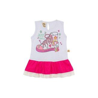 Vestido Infantil Menina Tênis Branco – Minitune