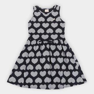 Vestido Infantil Milon Coração Lacinho