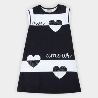 Vestido Infantil Milon Coração