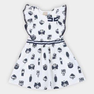 Vestido Infantil Milon Perfume Manga Borboleta
