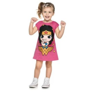 Vestido Infantil Mulher Maravilha Romitex
