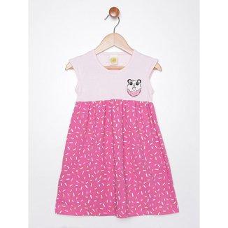 Vestido Infantil Para Menina - Rosa Pink/rosa