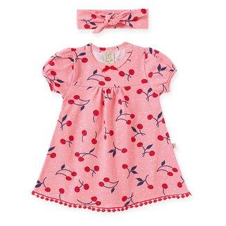Vestido Infantil Pingo Lelê Estampado C/ Faixa De Cabelo