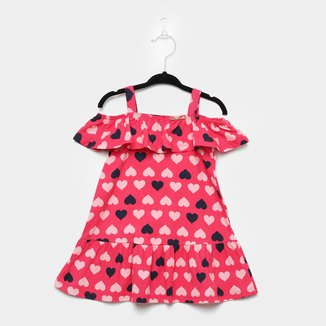 Vestido Infantil Pulla Bulla Coração