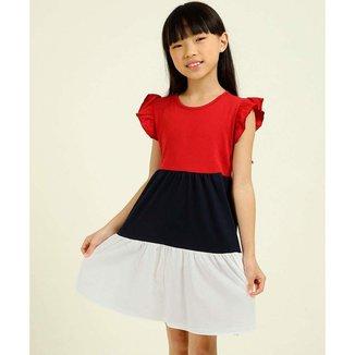 Vestido Infantil Recorte Babado Marisa Tam 4 A 10 - 10047831247