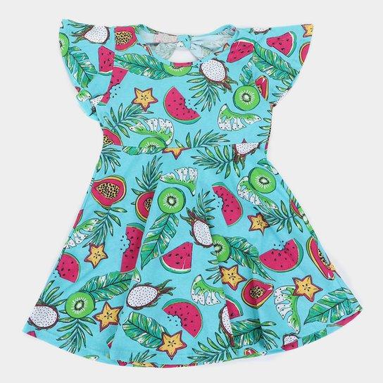 Vestido Infantil Rovitex Frutas - Verde