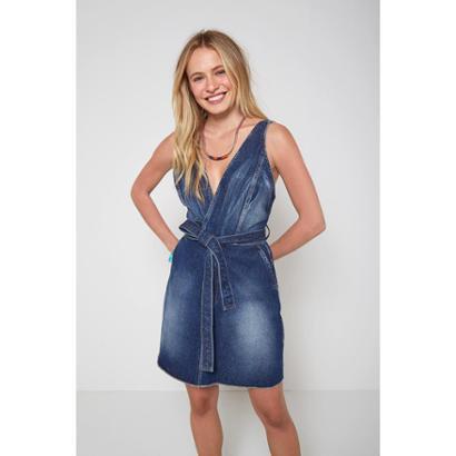 Vestido Jeans Oh, Boy! Faixa Feminino - Feminino