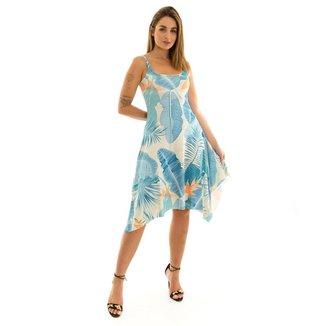 Vestido Kassis de Alcinha Estampado Azul