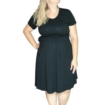 Vestido Linda Gestante Plus Size Basico Feminino