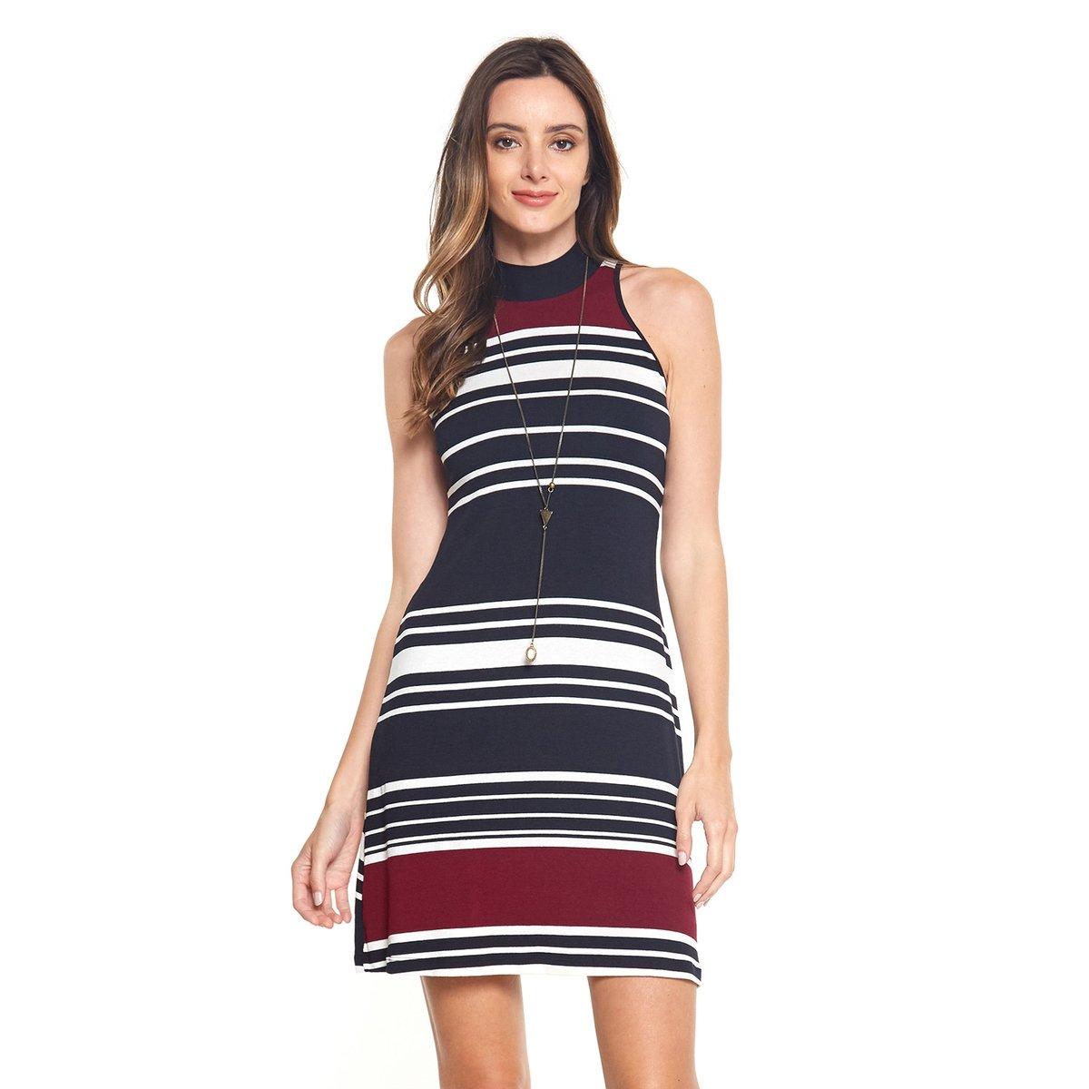 70dd117d57 Vestido Listras Casual - Compre Agora