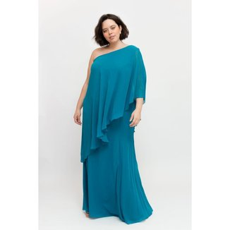 Vestido Longo Almaria Plus Size Pianeta Um Ombro Só