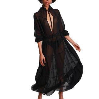 Vestido Longo de Seda