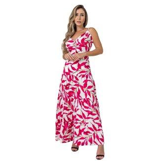 Vestido Longo Estampado Floral Feminino Diclass Brand