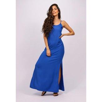 Vestido Longo Regata Azul Bic - GG - Veste do 46 ao 48
