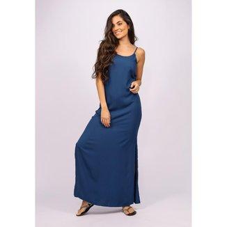 Vestido Longo Regata Azul Marinho - GG - Veste do 46 ao 48