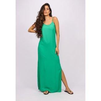 Vestido Longo Regata Verde Light - GG - Veste do 46 ao 48