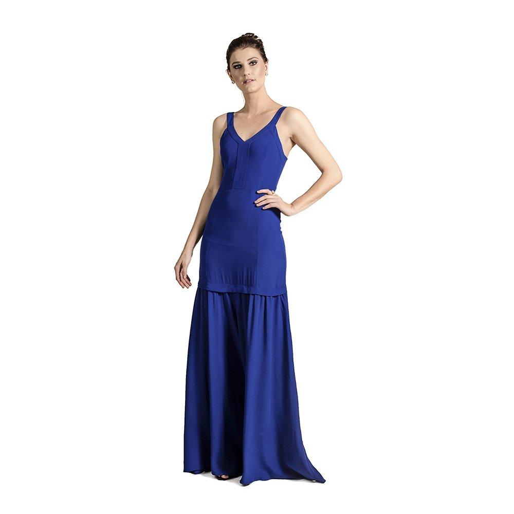 75a5436668ad6 VESTIDO LONGO SEREIA ANA HICKMANN - Azul - Compre Agora   Netshoes