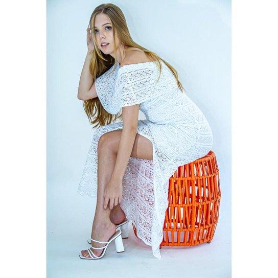Vestido Longo Tricot Mariana - Glam Tricot - Branco
