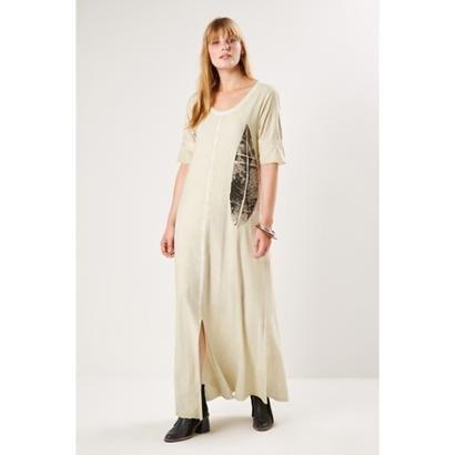 Vestido Malha Silk Folha Sacada - Feminino