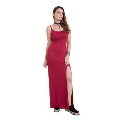 Vestido Manola Longo Alça Fenda Feminino