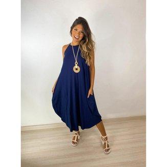 Vestido mid regata - Azul + Marinho