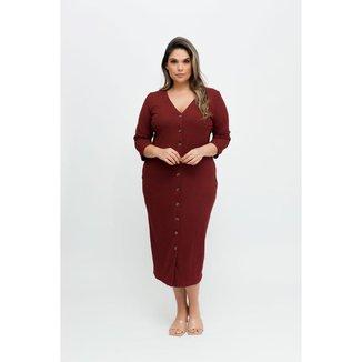 Vestido Midi Almaria Plus Size Pianeta Canelado