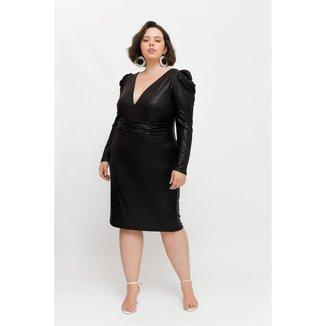Vestido Midi Almaria Plus Size Pianeta Decote V