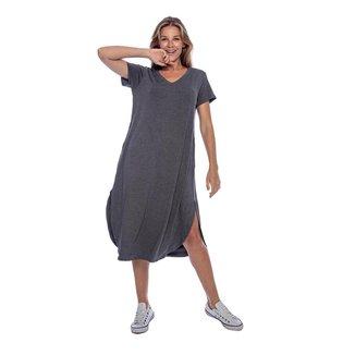 Vestido Midi com Bolso Mescla - Único - Veste 38 ao 48